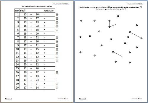 700 Soal Matematika Penjumlahan Dengan Gambar Rahasia Rumah Pintar